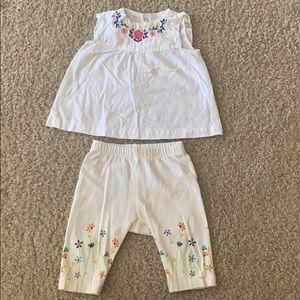 Carters Summer Shirt & Capris Outfit